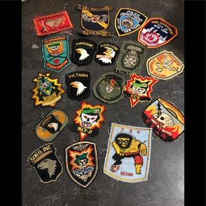 Patches Police , marines , fire ,  various . Value